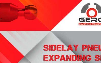 Sidelay pneumatic expanding airshaft